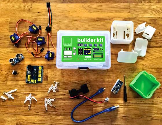Otto diy builder kit - tělo z 3D tisku součástí