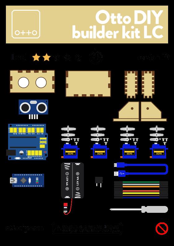Otto DIY Maker Kit + (bez těla z 3D tisku) - drevo-oci