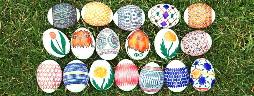 Kreslení vajíček s EggBot Deluxe Kit