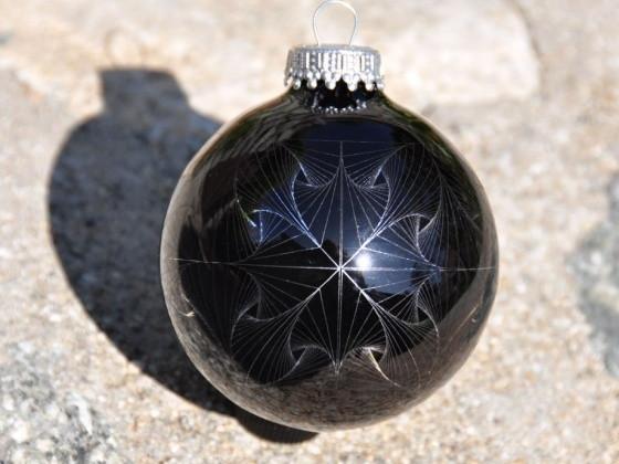 Okrasné rytí vánoční ozdoby - EggBot diamantový rytec (pájecí kit)