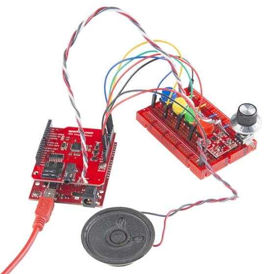 SparkFun MP3 Player Shield pro Arduino zapojení