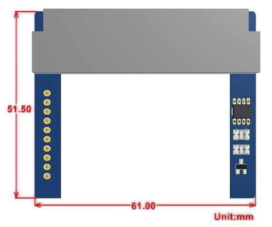 "1.8"" 160x128 barevný TFT LCD displej modul pro microbit rozměry"