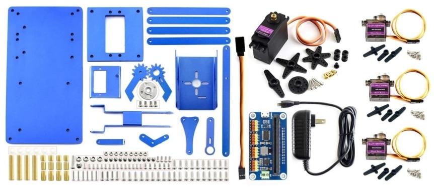 4-DOF kovová robotická ruka pro micro:bit součásti