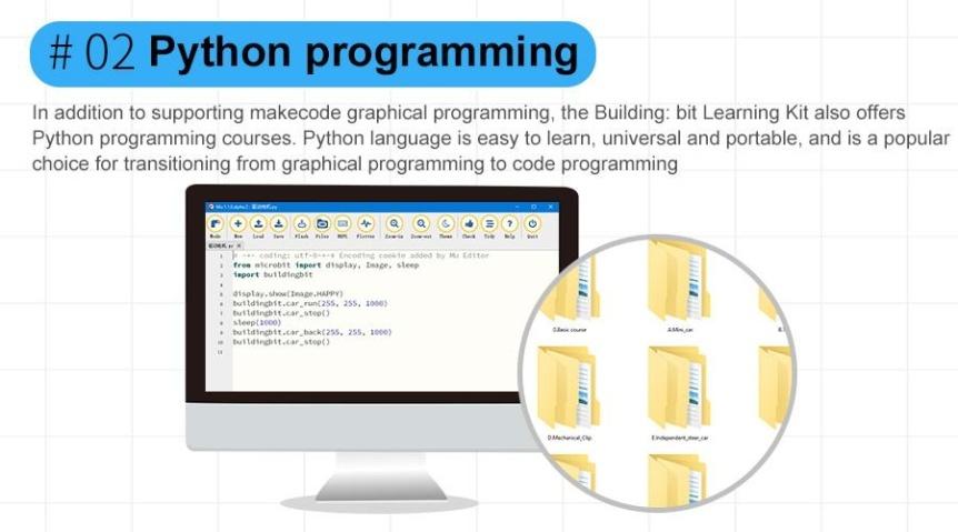 Building:bit Block kit stavebnice hi-tech robotů 9v1 pro LEGO® Python programování