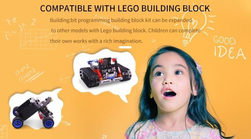 Building:bit Block kit stavebnice hi-tech robotů 9v1 pro LEGO® kompatibilní s LEGO