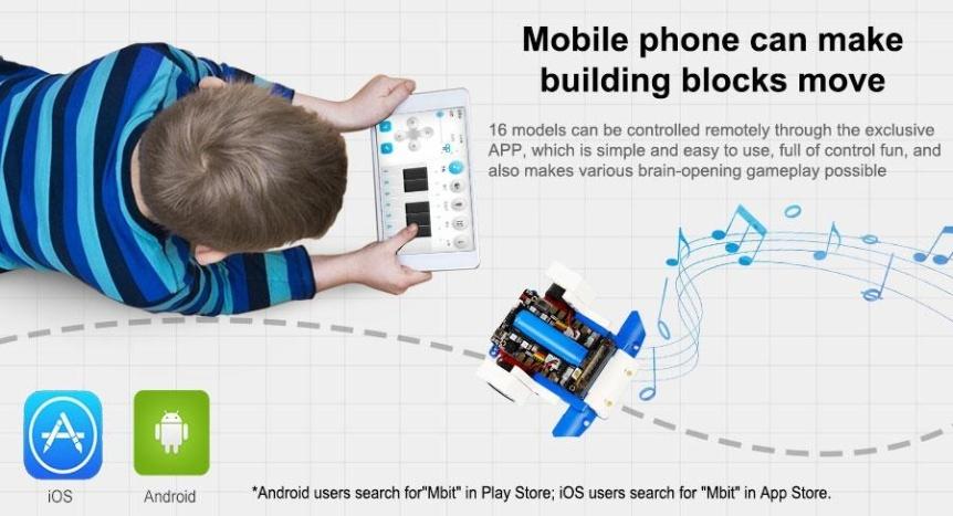 Building:bit Super kit stavebnice robotů 16v1 mobilní apka