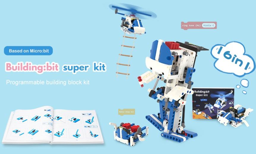 Building:bit Super kit stavebnice robotů 16v1 kompatibilní s LEGO® - bez desky micro:bit