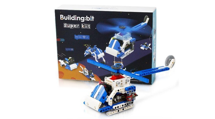 Building:bit Super kit stavebnice robotů 16v1 vrtulník