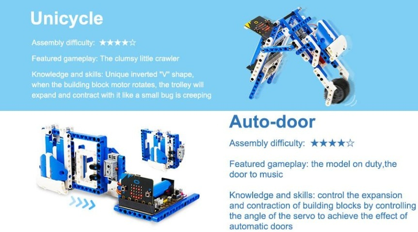 Building:bit Super kit stavebnice robotů 16v1 projekty 3
