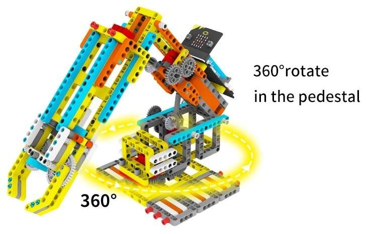 Programovatelná robotická ruka Arm:bit pro LEGO® - rotace 360 stupňů
