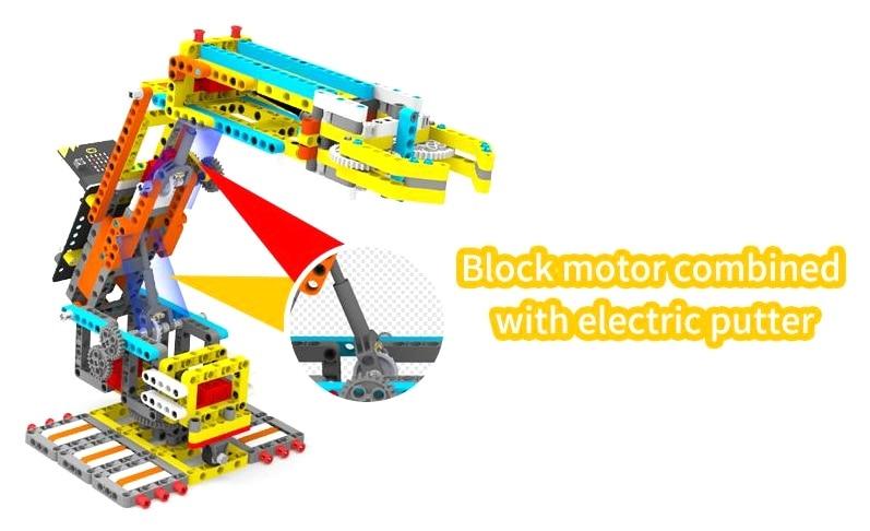 Programovatelná robotická ruka Arm:bit pro LEGO® - zvedací tyče