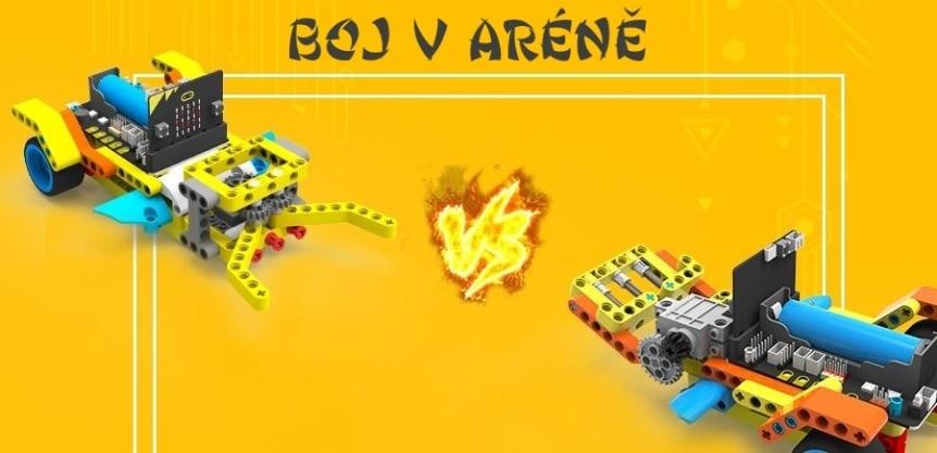 Programovatelné vozítko Running:bit kompatibilní s LEGO® boj v aréně