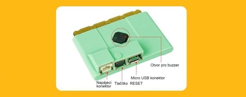 Silikonový obal na Micro:bit V1/V2 přístupné prvky
