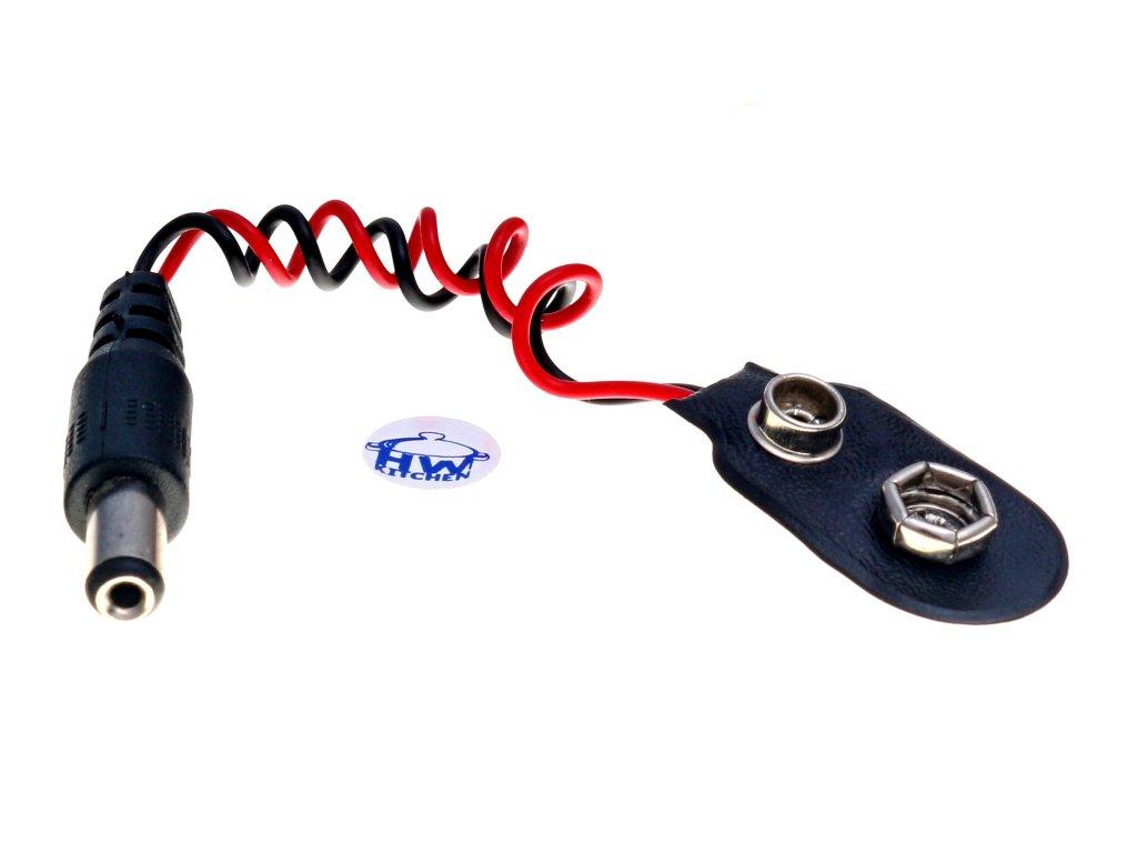 Arduino napájecí kabel pro 9V baterii