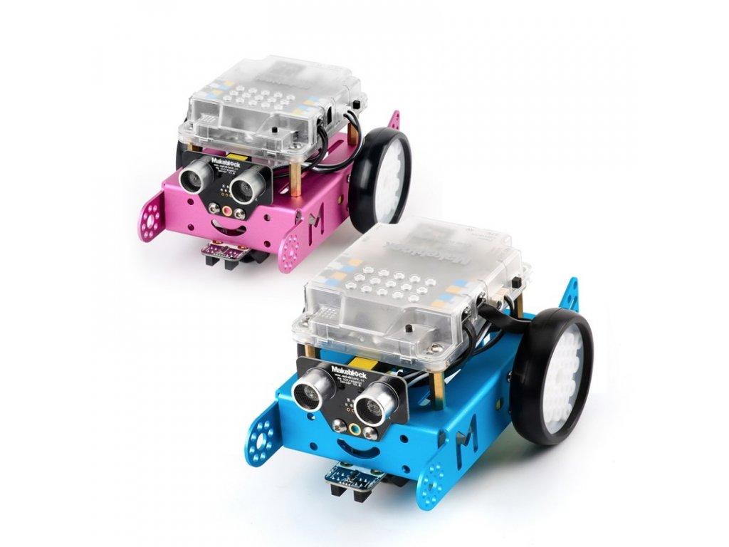 Arduino robot mBot v1.1 - modrý a růžový