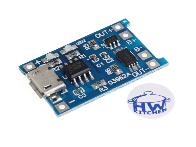 Micro USB nabíječka LiPol 1A s ochranou 1