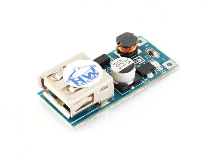 Měnič napětí z 0,9V na 5V USB