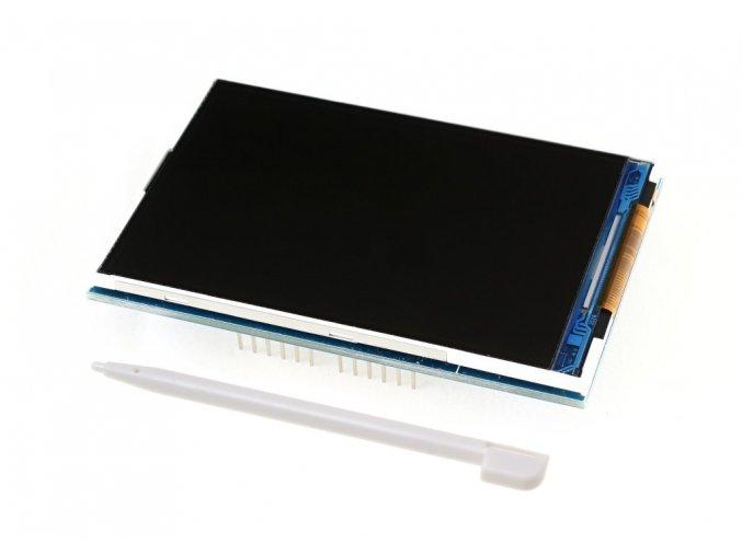 """Dotykový barevný TFT LCD displej Shield 3.5"""" + Micro SD čtečka"""