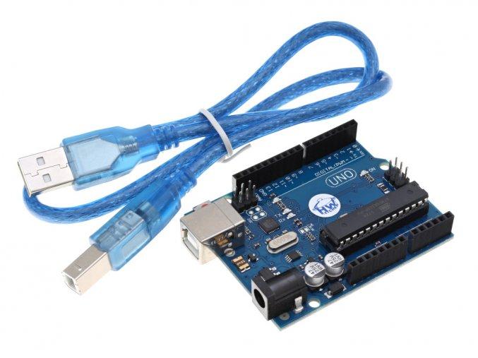 Precizní klon Arduino UNO R3 + USB kabel