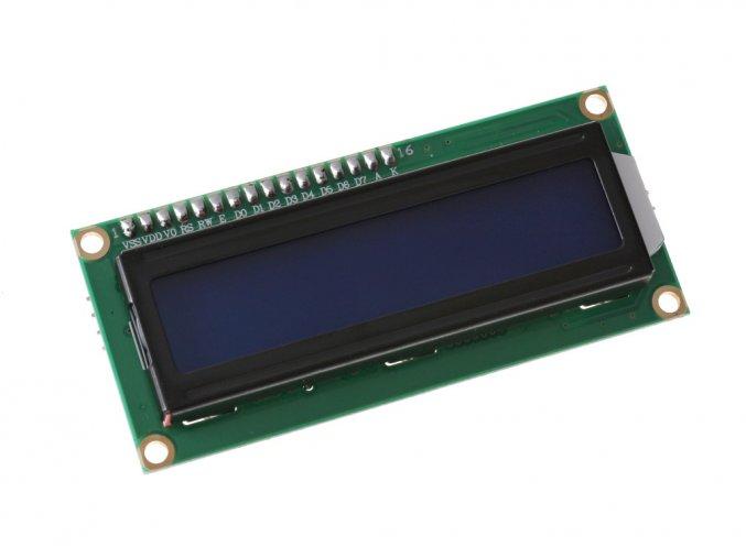 I2C LCD displej 16x2 modrý s podsvětlením