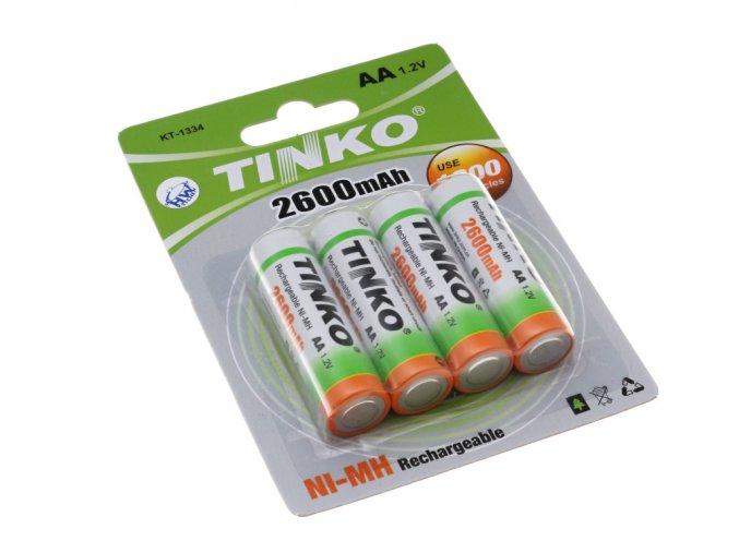 Nabíjecí baterie AA NiMh 2600mAh TINKO - 4ks