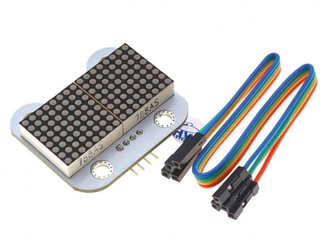 8x16 LED Matrix modul - červená s kabelem
