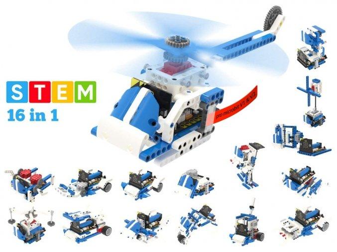 Building:bit Super kit stavebnice robotů 16v1 kompatibilní s LEGO®
