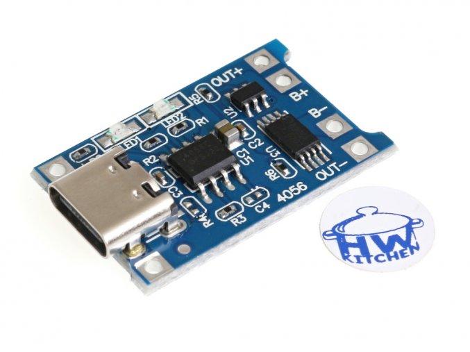 USB-C nabíječka LiPol 1A s ochranou
