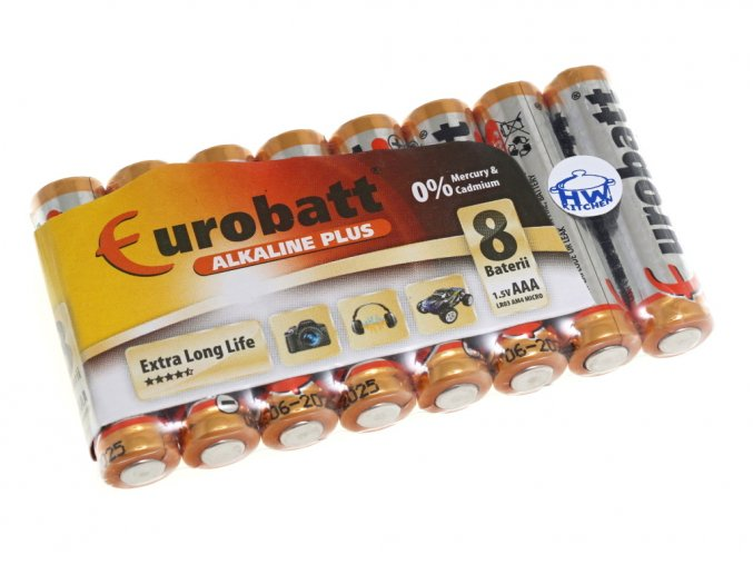 Tužková baterie AAA (LR03) alkalická - 8ks