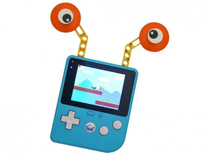 Retro Arcade herní konzole pro výuku programování s očima
