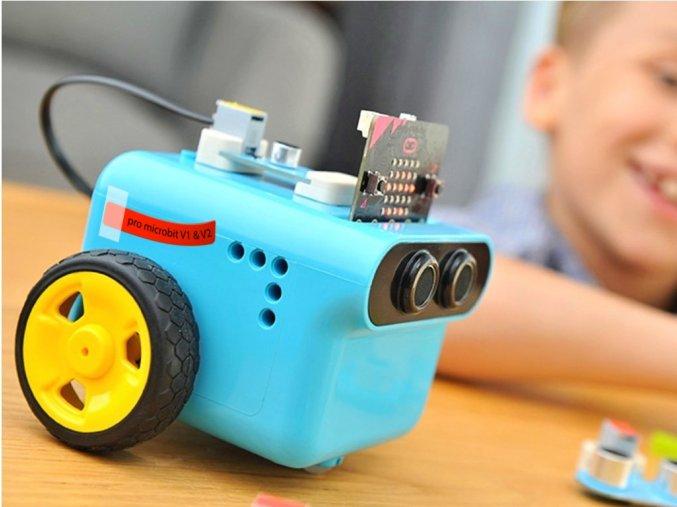 TPBot - programovatelný jezdící robůtek pro děti (bez micro:bit)