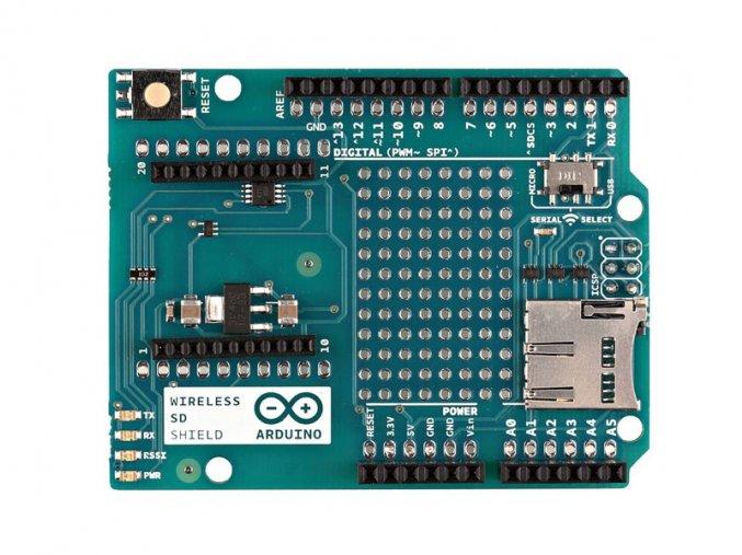 Arduino Shield na bastlení XBee + Micro SD čtečka