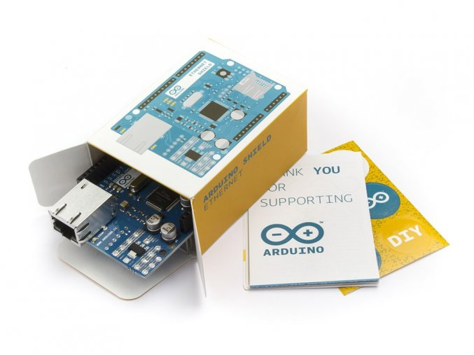 a000072 unboxArduino Ethernet Shield bez PoE balení