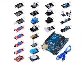 Senzor kit - 24 elektronických modulů + Arduino
