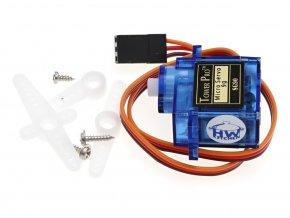 9g mikro servo motor SG90 - 360° kontinuální