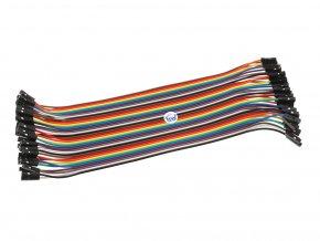 Propojovací vodiče F/F, 20 cm, 40 ks