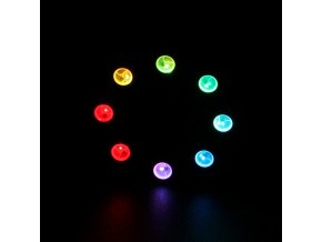 8 RGB Rainbow LED Ring světlo