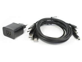 Univerzální zdroj / nabíječka 2 x USB 5V / 3,1A s kabely