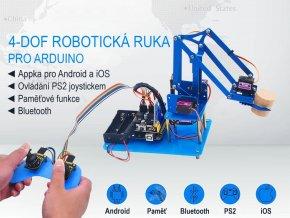 4-DOF robotická ruka pro Arduino, Bluetooth, PS2 + DIY joystick