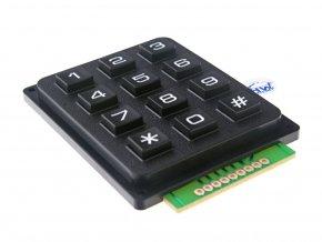 Maticová klávesnice 4x3 tlačítková