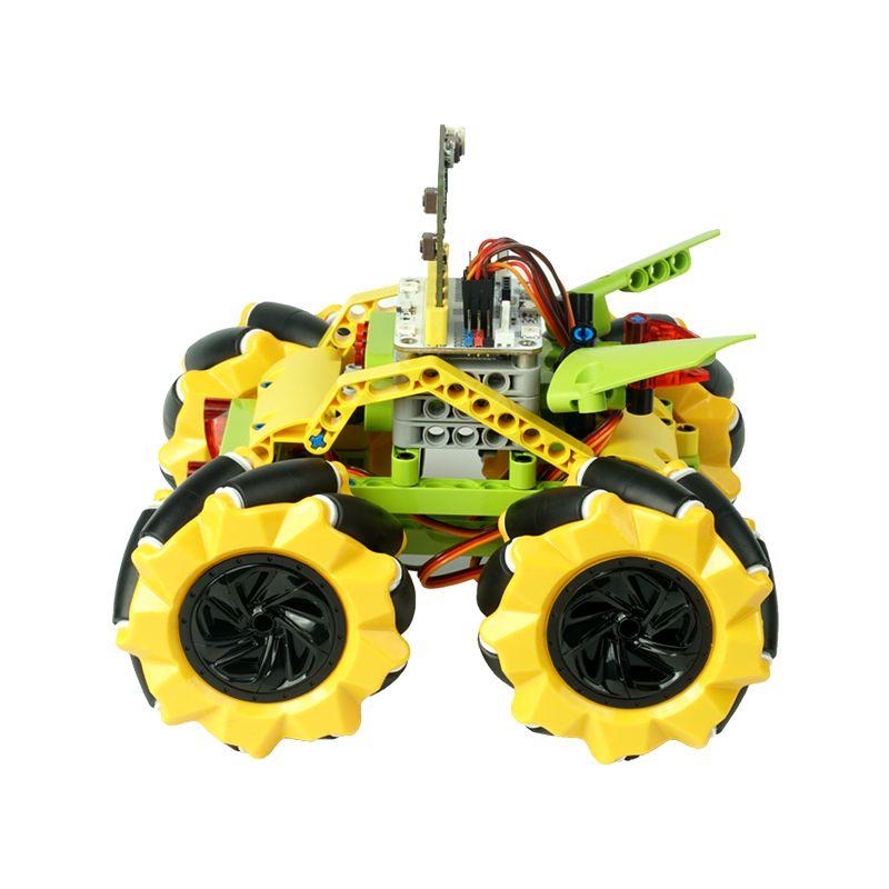 ElecFreaks Micro:bit Mecanum bugina s pohybem 360° (bez micro:bit) Barva kol: žlutá