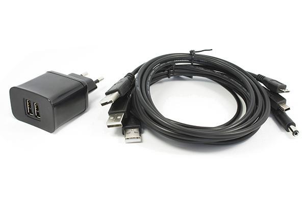 HW Kitchen Univerzální zdroj / nabíječka 2x USB 5V / 3,1A s kabely