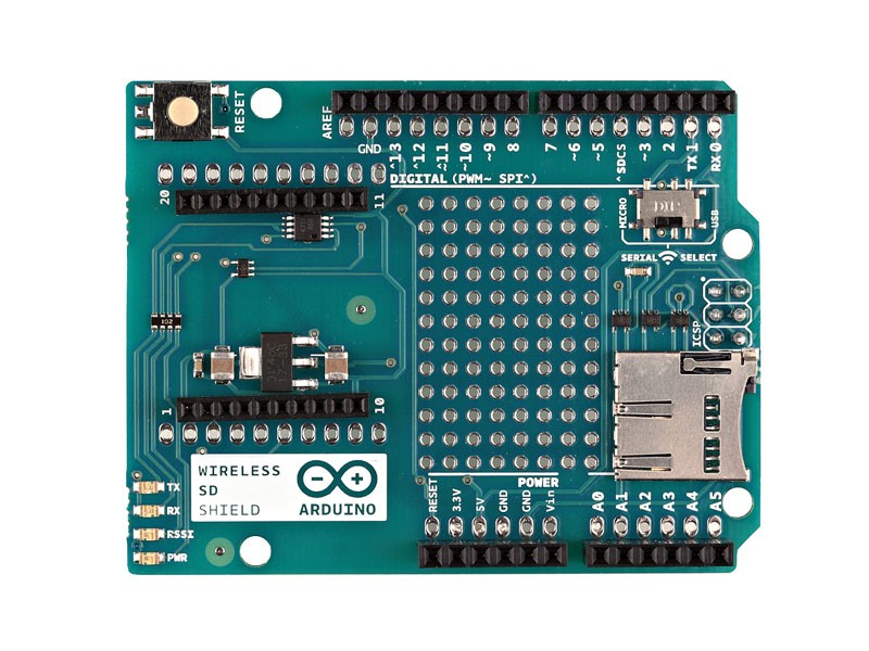 Arduino.org Arduino Shield na bastlení XBee + Micro SD čtečka