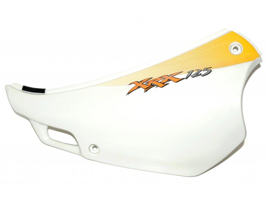 [3] Boční kryt levý / bílý / žlutá samolepa (FIG34) - Hyosung RX 125