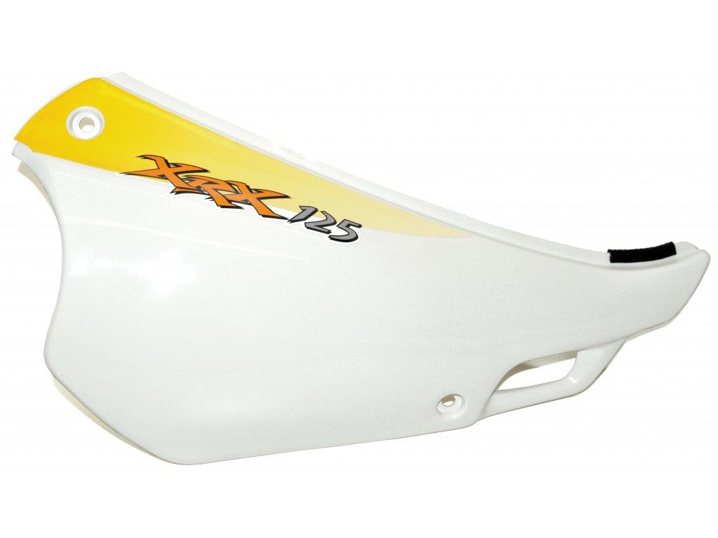 [4] Boční kryt pravý / bílý se žlutou samolepou (FIG34) - Hyosung RX 125