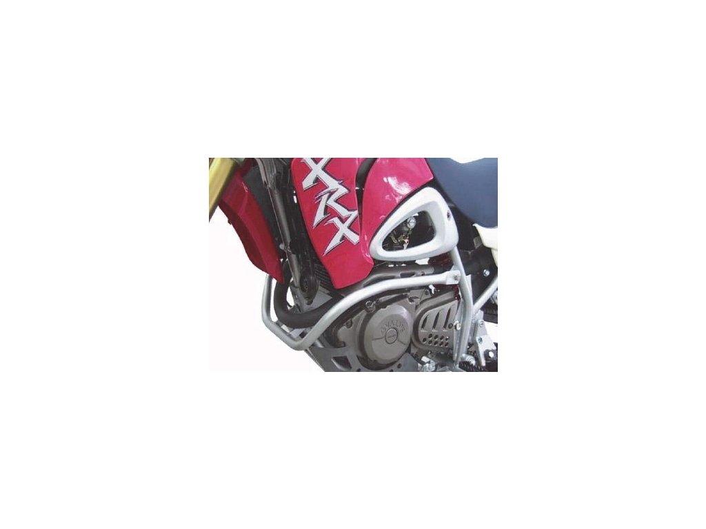 Ochranný rám motoru / stříbrný (Hyosung RX 125 / Hyosung RX 125 SM E3 / Hyosung RX 125D E3)