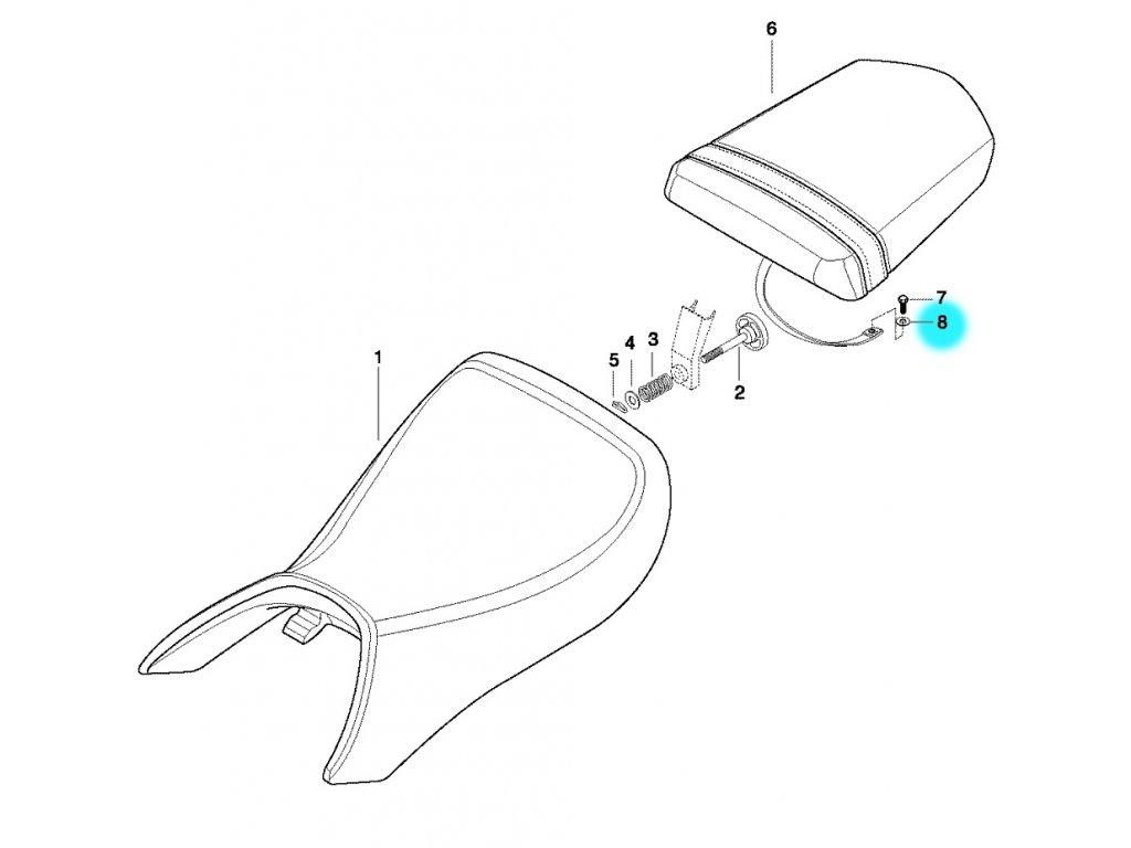 [8] Podložka pojistného šroubu (sedadlo) - Hyosung GT 650 N