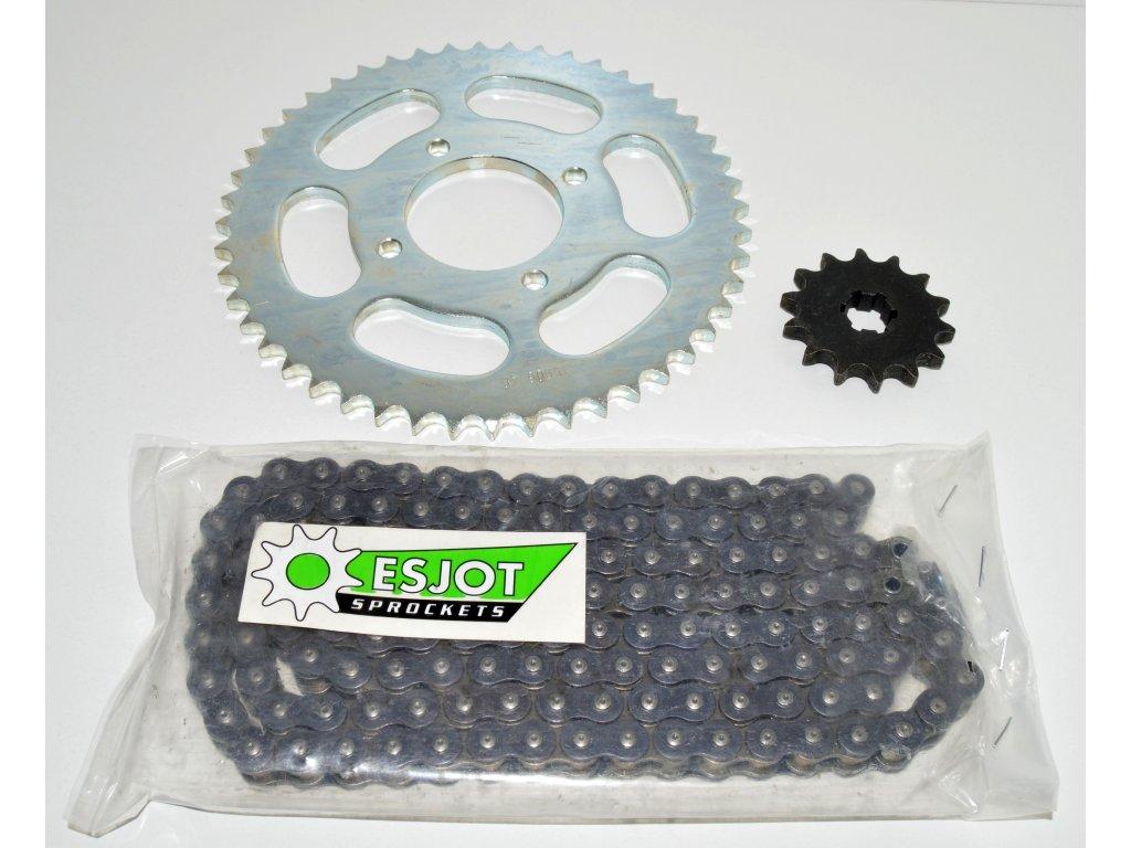 [26] Řetězová sada ESJOT (zadní kolo) - Hyosung RX 125 SM E3