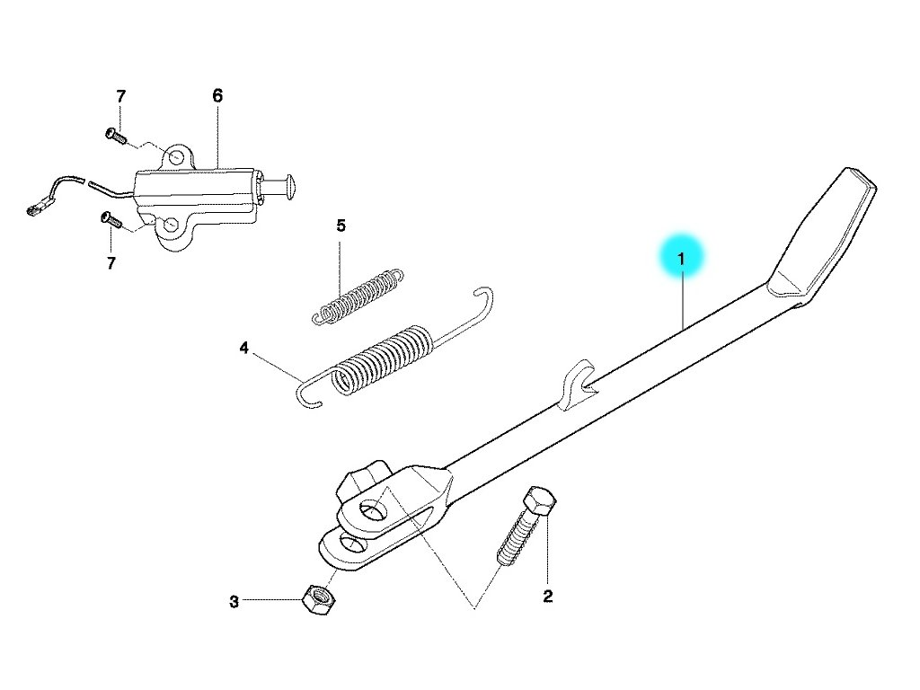 [1/b] Stojan boční opěrný (FIG31) - Hyosung GT 650 N
