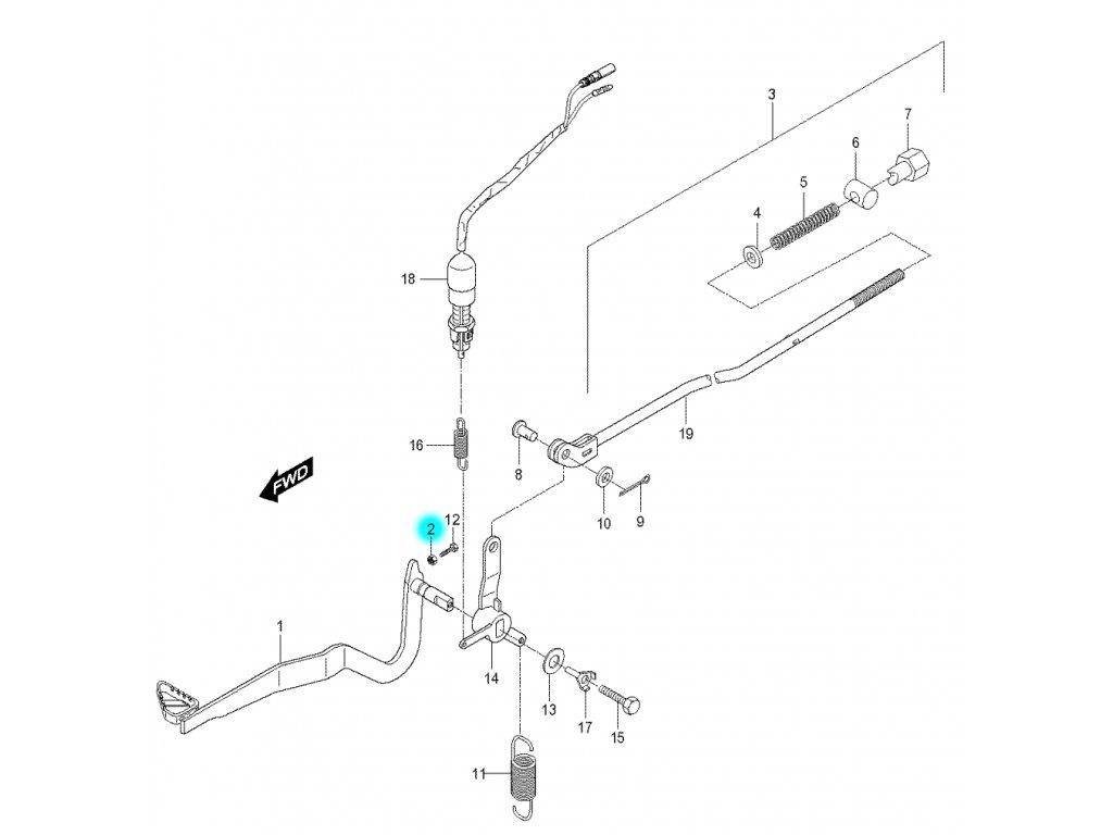 [2] Matice (brzdový pedál a táhlo) - Hyosung RX 125
